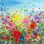 Abstract schilderij formaat 60 x 65 cm