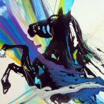 Epoxy paard gietwerk kleurrijk psychedelisch