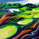 Golf Kunst Schilderij Hole in one 100 x 140 cm