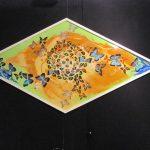 Mandala Vlinder vleugels kunstwerk ruitvormig
