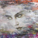 Portret schilderij 100 x 140 cm