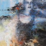 Portret schilderij 110 x 170 cm