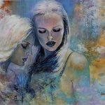 Schilderij portret Together 100 x 150 cm
