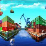Containers optische illusie 3D haven Rotterdam