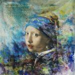 Meisje met de Parel abstracte oude meesterwerk