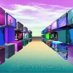 optische illusie zamnesia 3D kunst