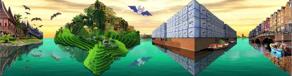 Optische illusie kunstwerk Guanokalong