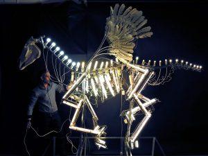 kunst object licht installatie